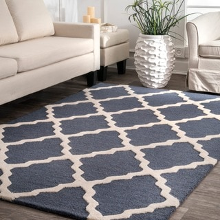"Hand-Hooked Alexa Moroccan Trellis Petit-Point Wool Rug (8'6"" x 11'6"")"