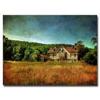 Lois Bryan 'Old Barn in Golden Afternoon Light' Canvas Art