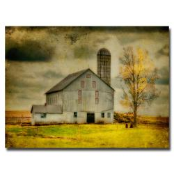 Lois Bryan 'Old Barn on Stormy Afternoon' Canvas Art