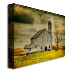 Lois Bryan 'Old Barn on Stormy Afternoon' Gallery-Wrapped Canvas Art - Thumbnail 1