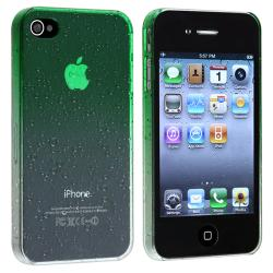 Clear Green Waterdrop Snap-on Case for Apple iPhone 4/ 4S - Thumbnail 1