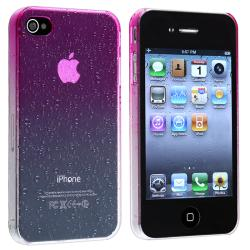 INSTEN Clear Hot Pink Waterdrop Snap-on Phone Case Cover for Apple iPhone 4/ 4S - Thumbnail 1