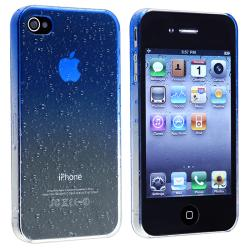 Clear Dark Blue Waterdrop Snap-on Case for Apple iPhone 4/ 4S - Thumbnail 1