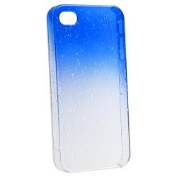Clear Dark Blue Waterdrop Snap-on Case for Apple iPhone 4/ 4S - Thumbnail 2
