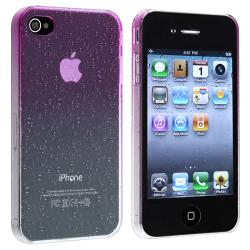 INSTEN Clear Purple Waterdrop Snap-on Phone Case Cover for Apple iPhone 4/ 4S