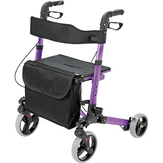 HealthSmart Purple Gateway Folding Rollator