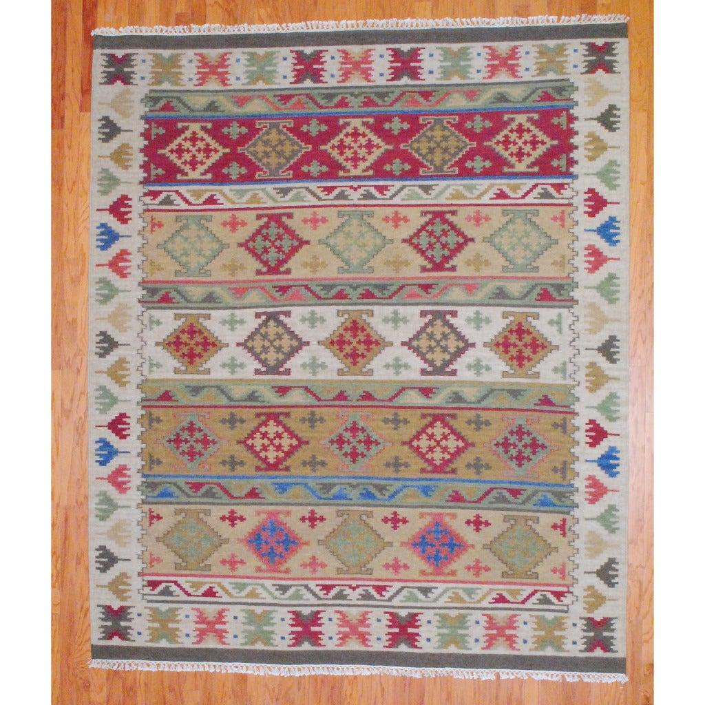 Shop Herat Oriental Indo Hand Woven Kilim Traditional