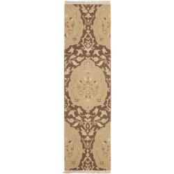 Sumak Heirloom Brown and Gold Wool Runner (2'3 x 8)