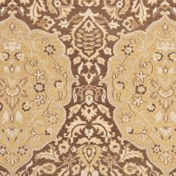 Handmade Indo Sumak Flatweave Heirloom Brown and Gold Wool Rug (4 x 6) - Thumbnail 2