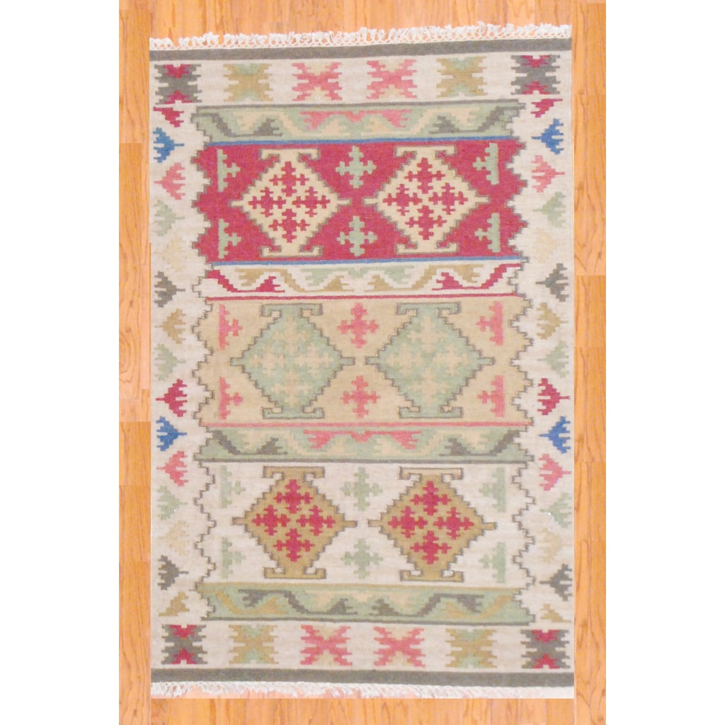 Shop Indo Hand Knotted Kilim Wool Rug 4 X 6 Multi