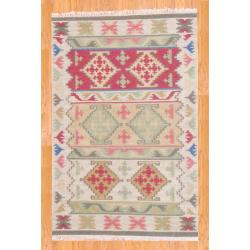 Indo Hand-knotted Kilim Wool Rug (4' x 6')
