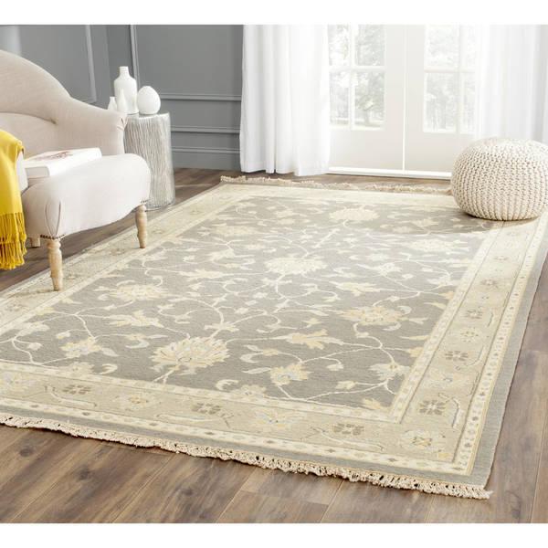 Sumak Flatweave Heirloom Grey Wool Rug (6 x 9)