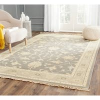 Handmade Safavieh Couture Sumak Flatweave Oriental Grey/ Multi Wool Area Rug - 8 x 10 (India)