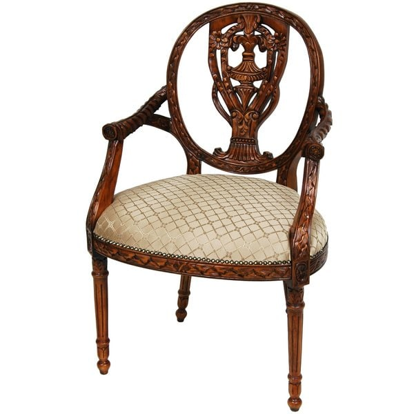 Mahogany Sandy Tile Queen Victoria Dining Room Chair (China)
