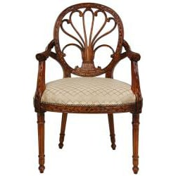 Mahogany Sandy Tile Queen Elizabeth Sitting Room Chair (China) - Thumbnail 1