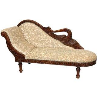 Walnut Golden Ivy Queen Elizabeth Swan Chaise Lounge (China)