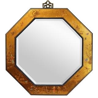 Handmade Gold Leaf Octagonal Mirror (China)
