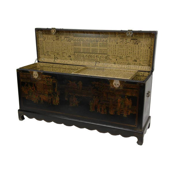 Enjoyable Handmade Black Lacquer Daily Life Trunk China Pdpeps Interior Chair Design Pdpepsorg