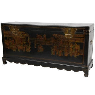 Handmade Black Lacquer Daily Life Trunk (China)