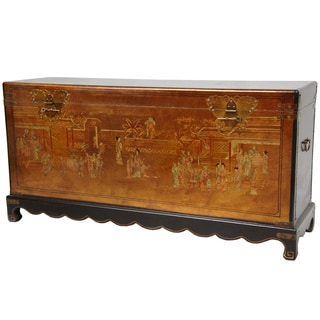 Handmade Gold Leaf Daily Life Trunk (China)