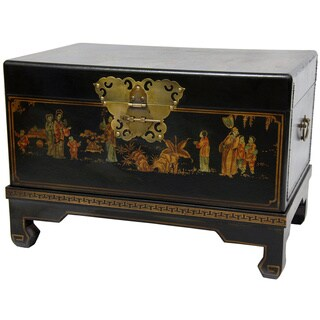 Handmade Black Lacquer Small Trunk (China)