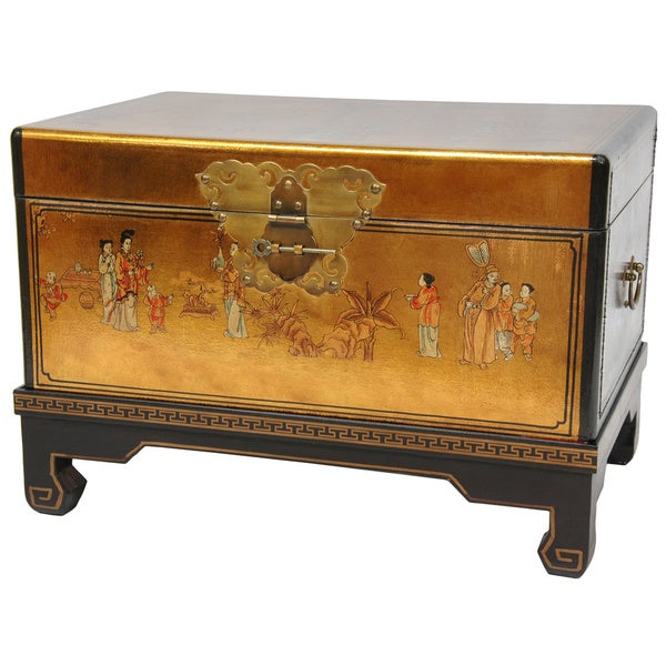 Wood Gold Leaf Small Trunk (China)