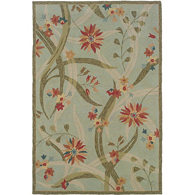 Orleans Green Rectangle Rug (5' x 7'9)