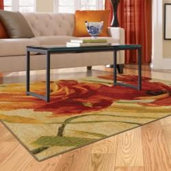Flamboyant Orange Multicolor Rug (5' x 7') - Thumbnail 2