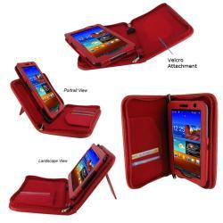 rooCASE Samsung Galaxy Tab 7.0 Plus Tablet Executive Portfolio Leather Case Cover - Thumbnail 2