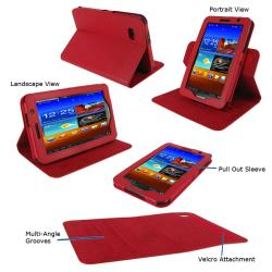 "rooCASE Dual-View Carrying Case (Folio) for 7"" Tablet - Magenta"