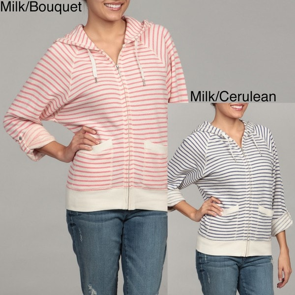 Calvin Klein Performance Women's Striped Zip-front Hoodie