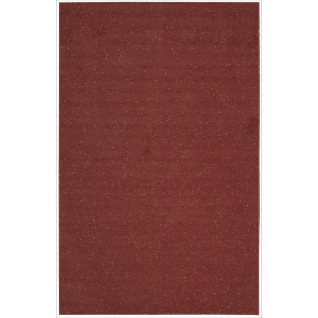 Nourison Hand-tufted Wool Values Raspberrry Rug - 5' x 8'