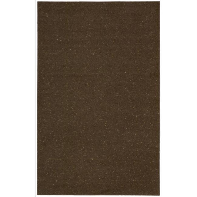 Nourison Hand-tufted Wool Values Chocolate Rug ( 5' x 8' )