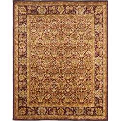 Safavieh Handmade Heritage Wine Red Wool Rug (6' x 9')