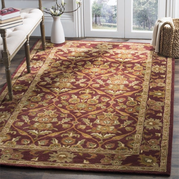Safavieh Handmade Heritage Wine Red Wool Rug - 8'3 x 11'