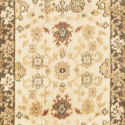 Safavieh Oushak Cream/ Brown Rug (2'3 x 8') - Thumbnail 2
