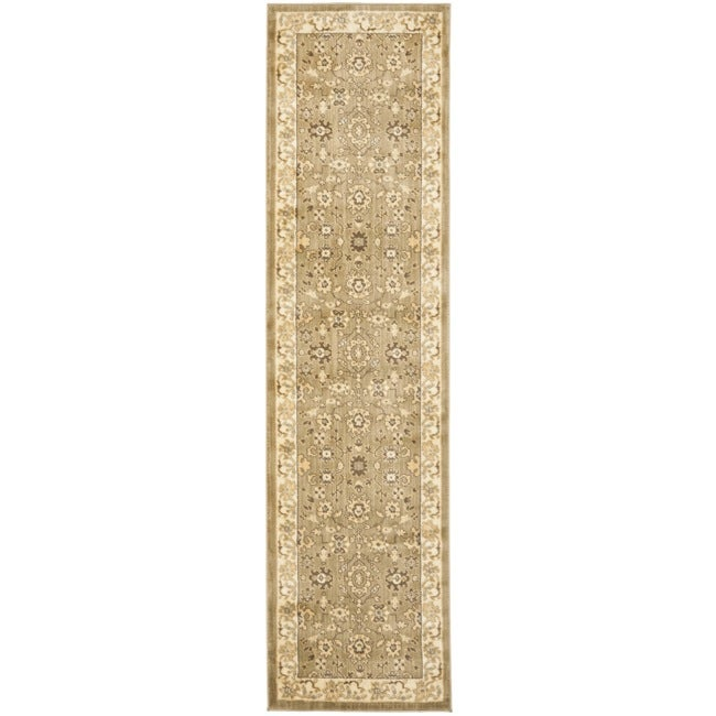 Safavieh Oushak Green/ Cream Rug (2'3 x 8')