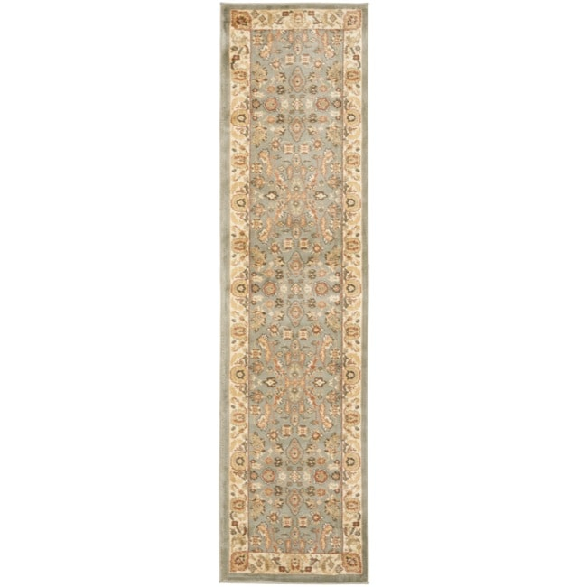 Flatweave Rug Safavieh Oushak Heirloom Traditional Green/ Cream Runner ...