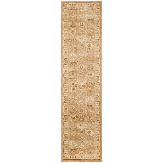 Safavieh Oushak Heirloom Traditional Light Brown/ Gold Runner Rug (2'3 x 8')