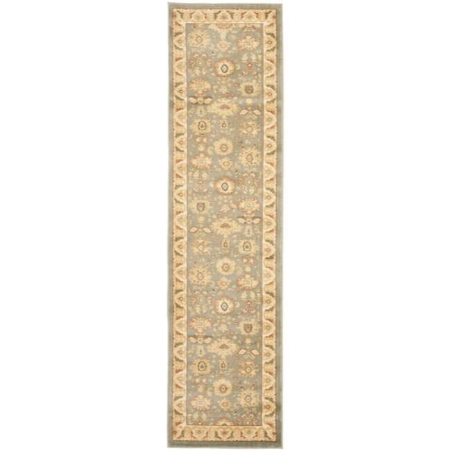 Safavieh Oushak Blue/ Cream Oriental Rug (2'3 x 8')