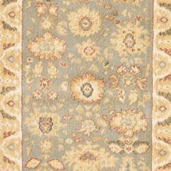 Safavieh Oushak Blue/ Cream Oriental Rug (2'3 x 8') - Thumbnail 2