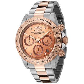 Invicta Men's 6933 'Speedway' Classic Chronograph Rose-Tone and Silver Stainless Steel Watch