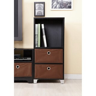 Furniture of America Fresno Multi-purpose Black Tower with Storage Boxes