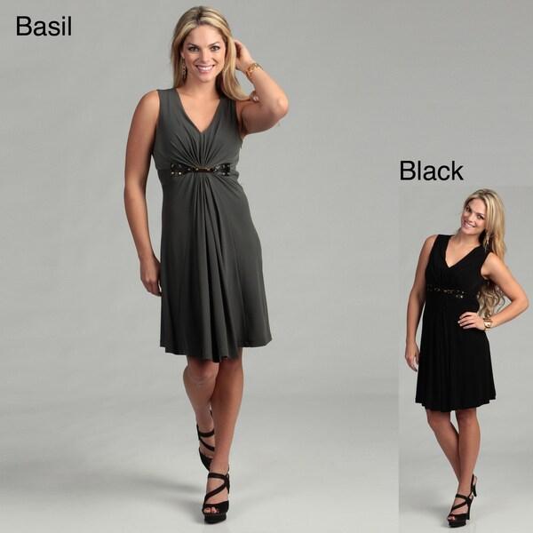 Calvin Klein Women's Sleeveless Matte Jersey Dress