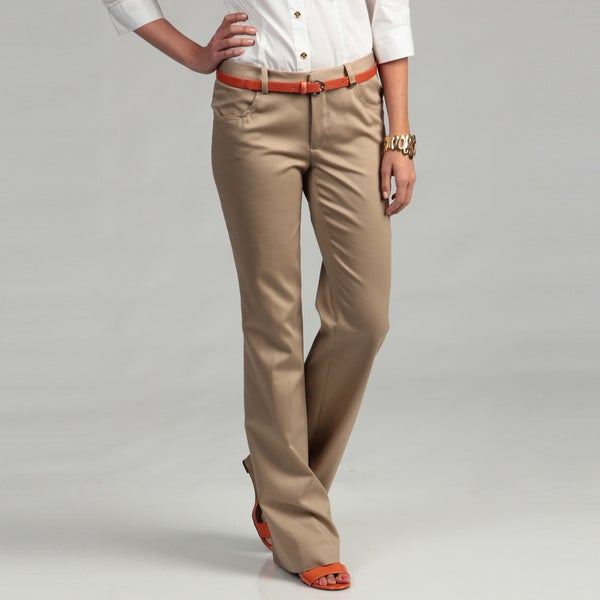Calvin Klein Women's Dark Khaki Pants - Free Shipping Today ...