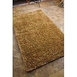 Hand-woven Brown Shag Rug (7'6 x 9'6) - Thumbnail 1
