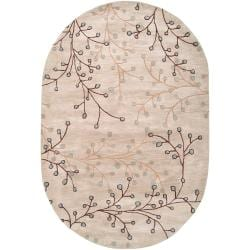 Handcrafted Tulsa Floral Wool Rug (6' x 9')