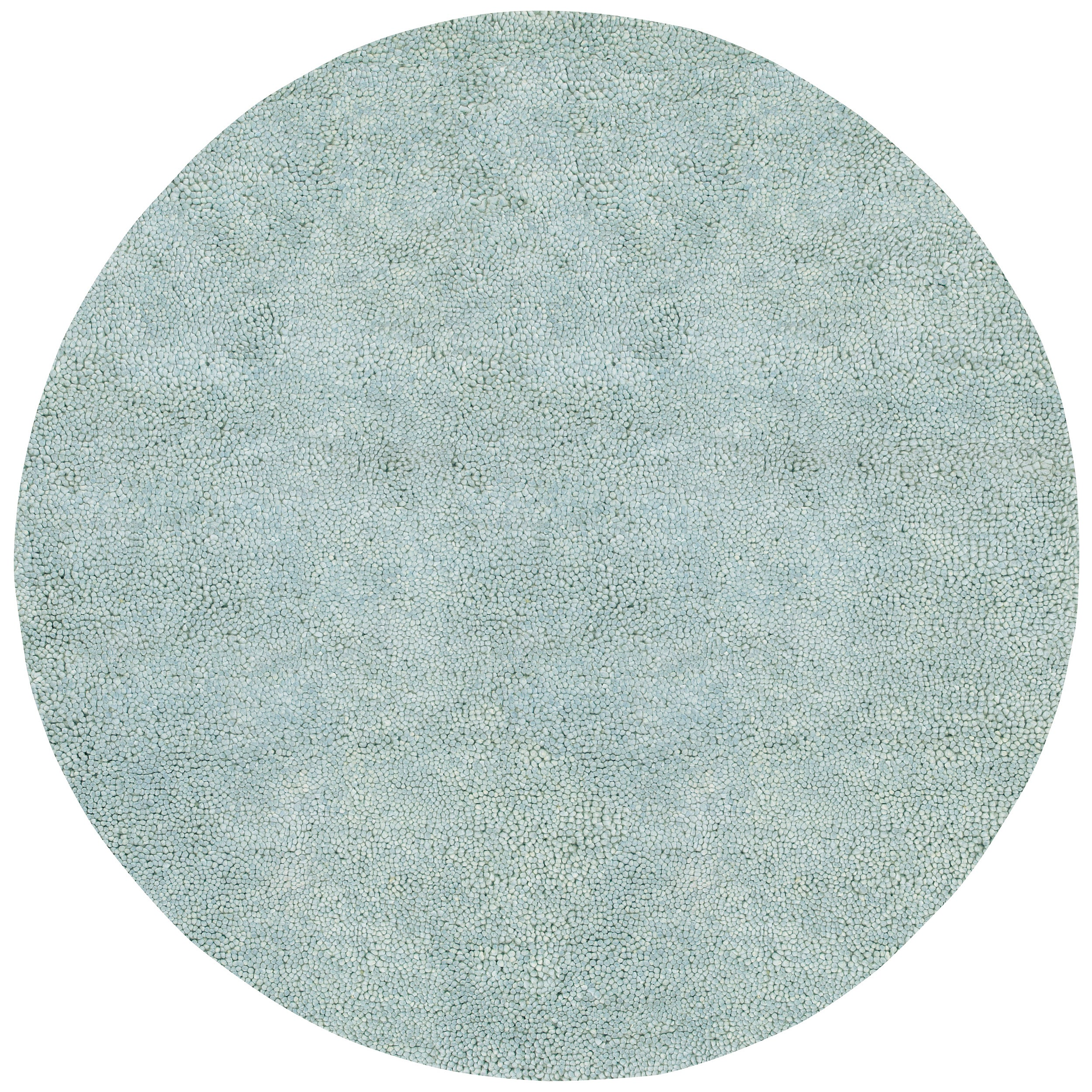 Hand-woven Nurnberg Colorful Plush Shag New Zealand Felted Wool Rug (8' Round)