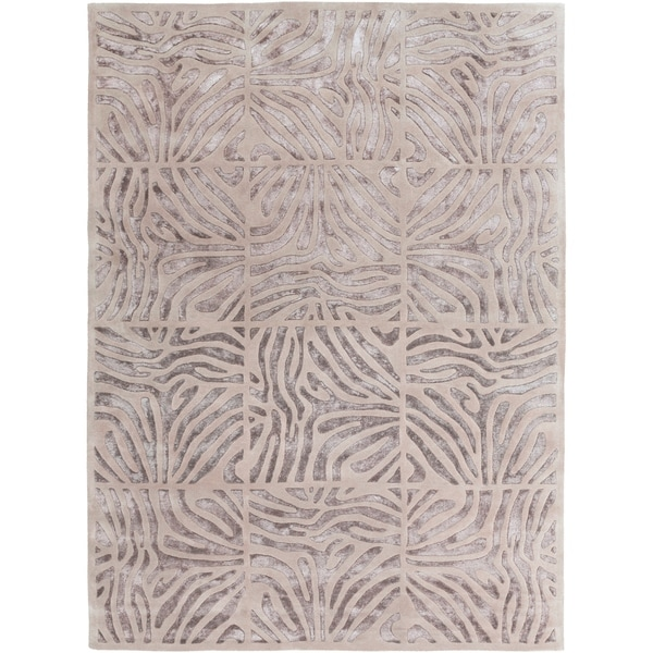 Shop Hand Tufted Zebra Animal Print Clarkston Wool Area