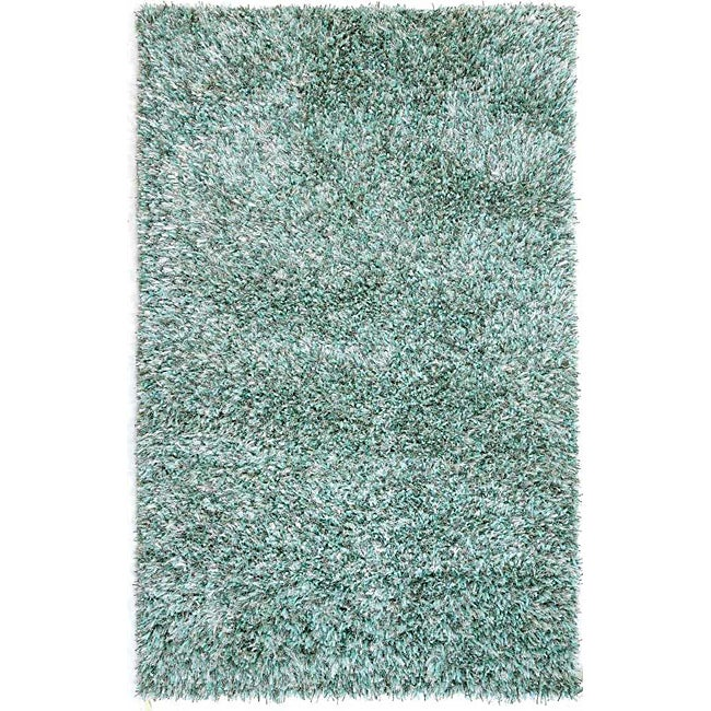 Hand-woven Blue Area Rug (3' 6 x 5' 6)